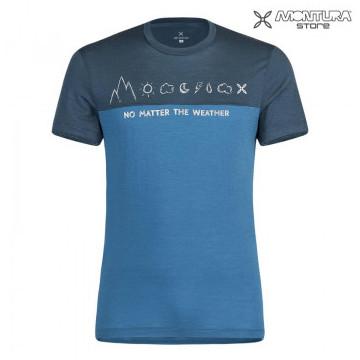 Tričko MONTURA No Matter Wool Teal (Blue)
