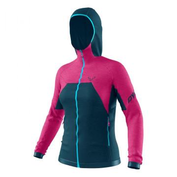 Bunda DYNAFIT Tour Wool Thermal Hoody W (pink-blue 6551) Dámska