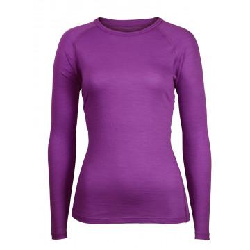 Tricko BRYNJE Classic Wool Lady Rib Shirt (violet)