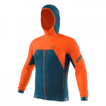 Bunda DYNAFIT Tour Wool Thermal Hood M (blue-orange 4491)
