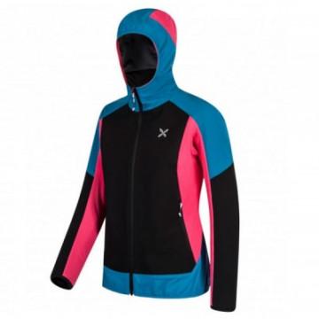Bunda MONTURA Premium Wind Hoody W 8304 pink-blue