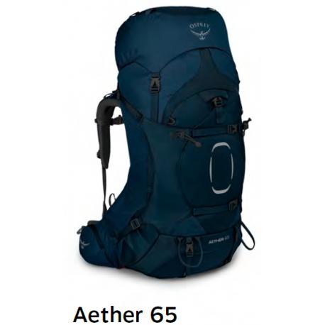 Batoh OSPREY Aether 65l Deep Water L/XL (blue)