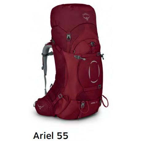 Batoh OSPREY Ariel 55l Claret M/L (red)