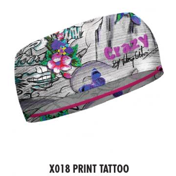 Čelenka CRAZY Idea Double (X018 print tatto) Dámska