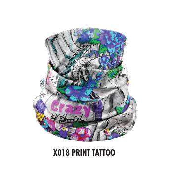 Nákrčník CRAZY Idea X018 Print Tattoo