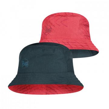 Klobuk Buff TREK BUCKET COLLAGE RED BLACK