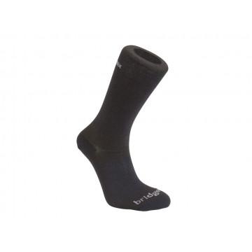Ponozky Bridgedale BASE LAYER COOLMAX LINER BOOT X2 black