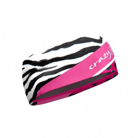 Čelenka CRAZY Idea Double 01Ze Black-Zebr