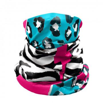 Nákrčník CRAZY Idea Gaiter Light 01Ze Black-Zebra