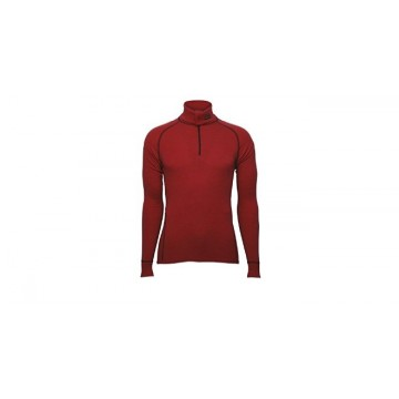 Rolák BRYNJE Classic Wool Zip Polo (red)