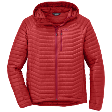 Bunda Outdoor Research VERISMO HOODED DOWN - Hot Sauce (červená)