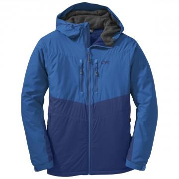 Bunda Outdoor Research ALPENICE HOODED Jacket - Baltic/glacier (modrá)