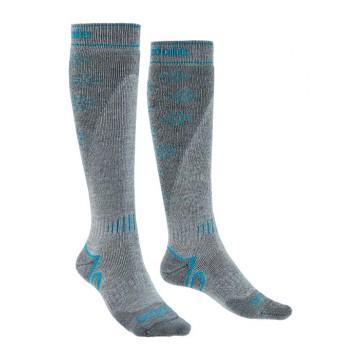 Ponožky BRIDGEDALE Ski MidWeight+ (grey light 040) Dámske