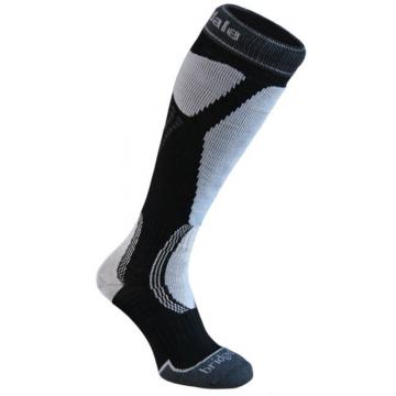 Ponožky BRIDSEDALE Ski Easy On (black-grey 035)
