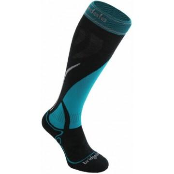 Ponožky BRIDGEDALE Ski MidWeight (grey-blue 004) Dámska