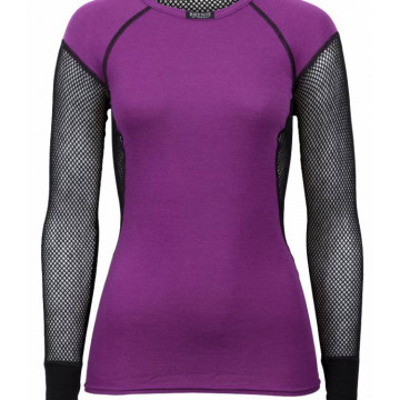 Tričko BRYNJE Wool Thermo Lady Shirt (black-violet)