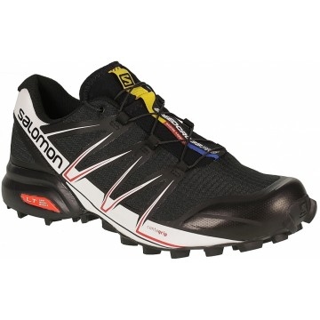 Salomon Speedcross Pro / Black White Bright Red