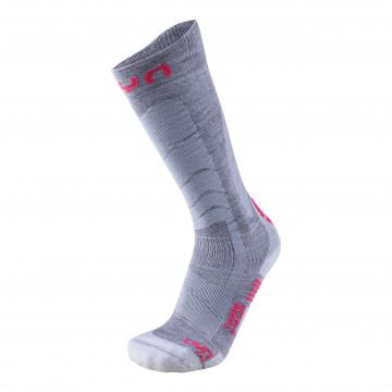 Ponožky UYN Ski Touring (S050 grey-pink) Dámska