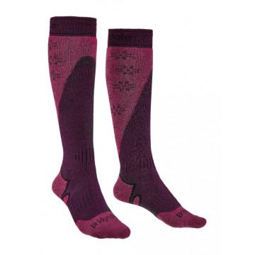 Ponožky BRIDGEDALE Ski MidWeight+ (purple-pink) Dámske