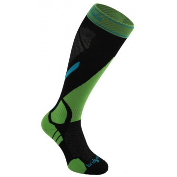 Ponožky BRIDGEDALE Vertige Light (black-green 843)